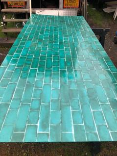 Fibreglass tile effect