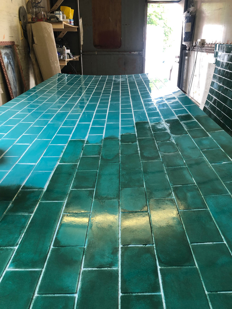 Painting the tiles