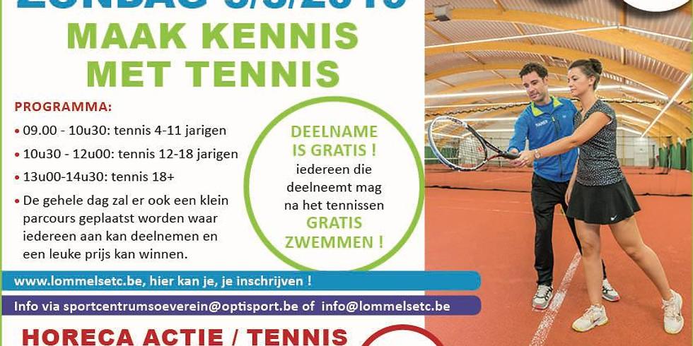 Opendeurdag tennis & zwemmen