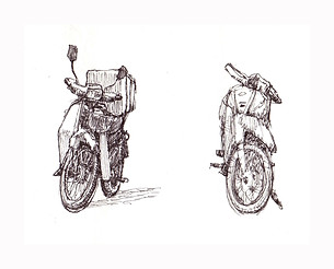 study of motocycles pen Paul du Moulin 2008.jpg