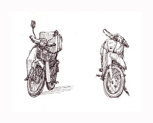 study of motocycles pen Paul du Moulin 2008.jpg