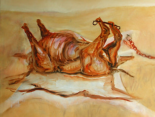 Skinned Cow oil on canvas Paul du Moulin.jpg
