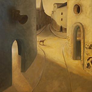1989, Cesky Krumlov 2009 Paul du Moulin oil on canvas.jpg