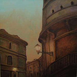 """""""Roman Street Scene"""" Paul du Moulin 2016 Oil on Canvas.jpg"""