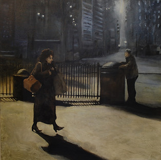 """New York Steet Scene"" Paul du Moulin 2016 Oil on Canvas.jpg"