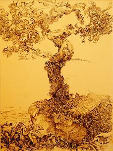 Yvonnes Tree Ink on Paper Paul du Moulin.jpg