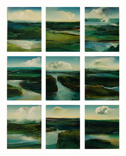 Clouds, water and Land Mixed media Paul du Moulin.jpg