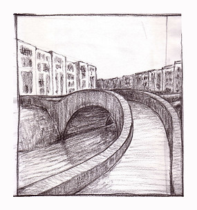 study bridge charcoal Paul du Moulin 2008.jpg