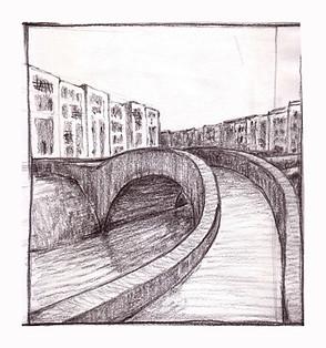 study bridge charcoal Paul du Moulin 2008.jpg