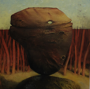 """""""Balancing Rock"""" Paul du Moulin 2016 Oil on Canvas 2.jpg"""