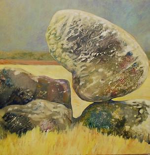 """""""Balancing Rock 3"""" Paul du Moulin 2016 Oil on Canvas.jpg"""