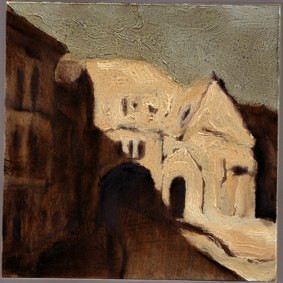 Cesky Krumlov Paul du Moulin oil on board.jpg