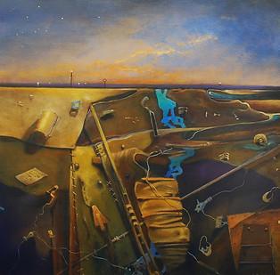 """""""Palimpsest Pompeii"""" Paul du Moulin 2016 Oil on Canvas.jpg"""