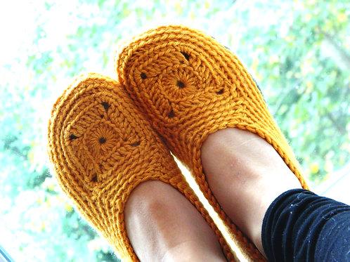 Chausson Sweet Granny | Patron au crochet