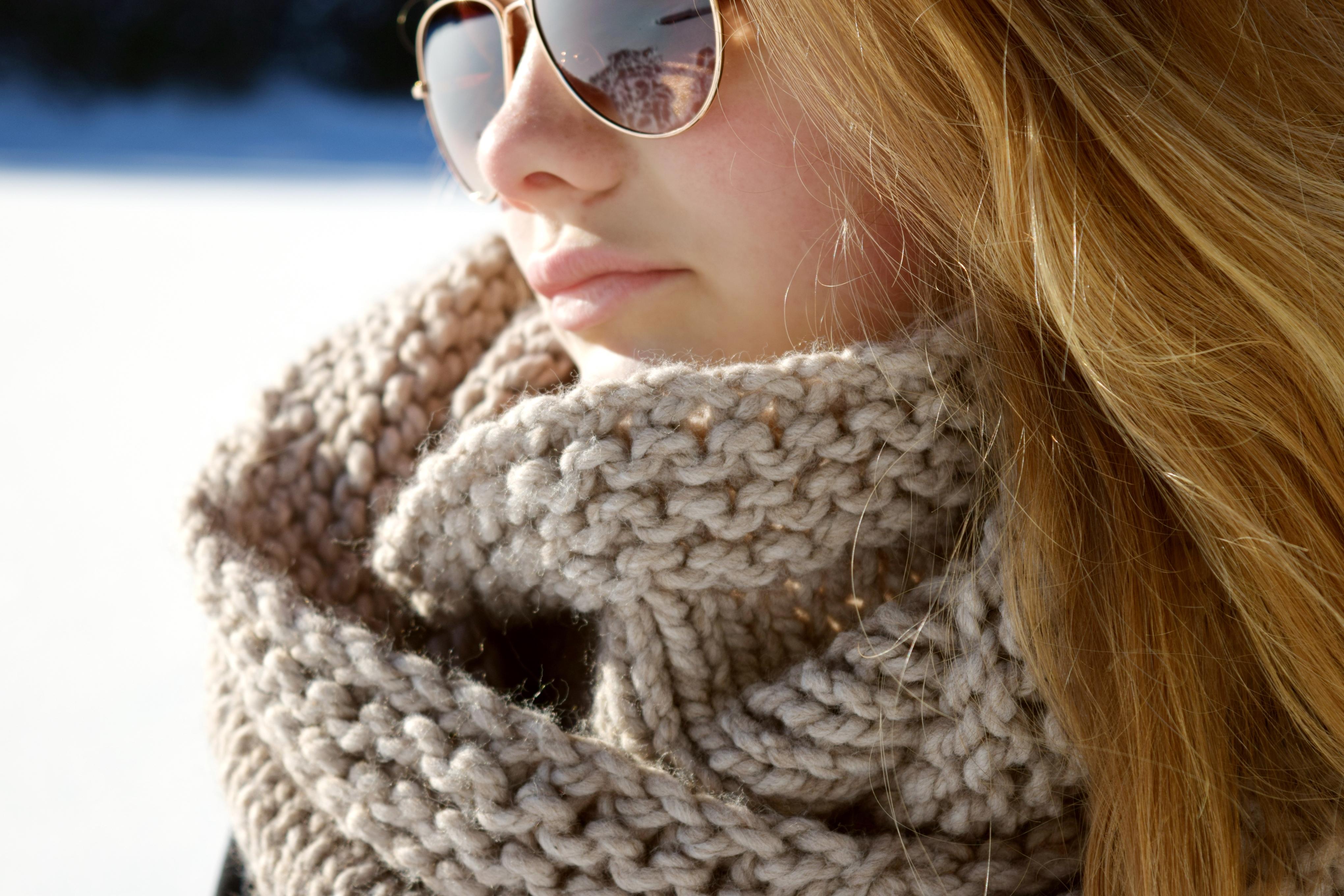 patron foulard tricot