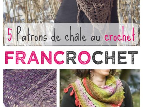 5 Patrons de châle au crochet en français