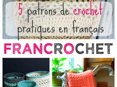 5 patrons de crochet pratiques