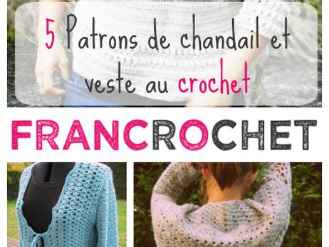 5 Patrons de chandail et veste au crochet en français