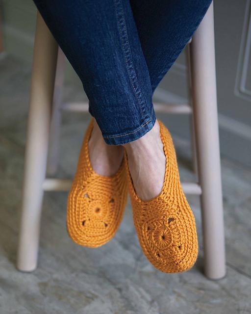 sweet granny crochet slippers