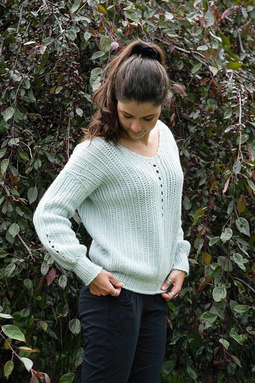 Blueberry Hill PATRON de chandail au crochet