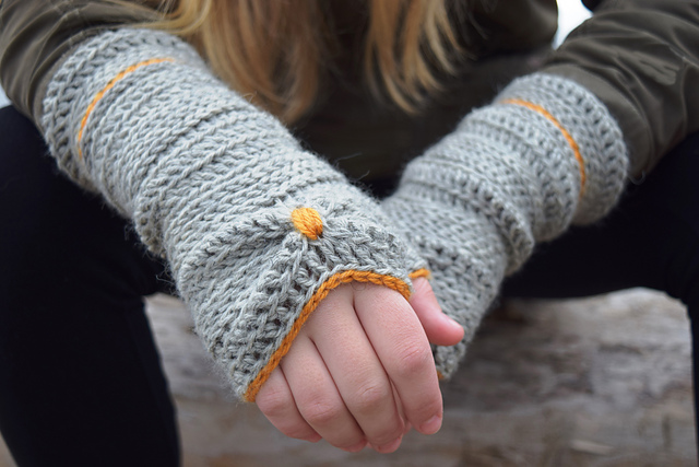 gants sans doigts au crochet