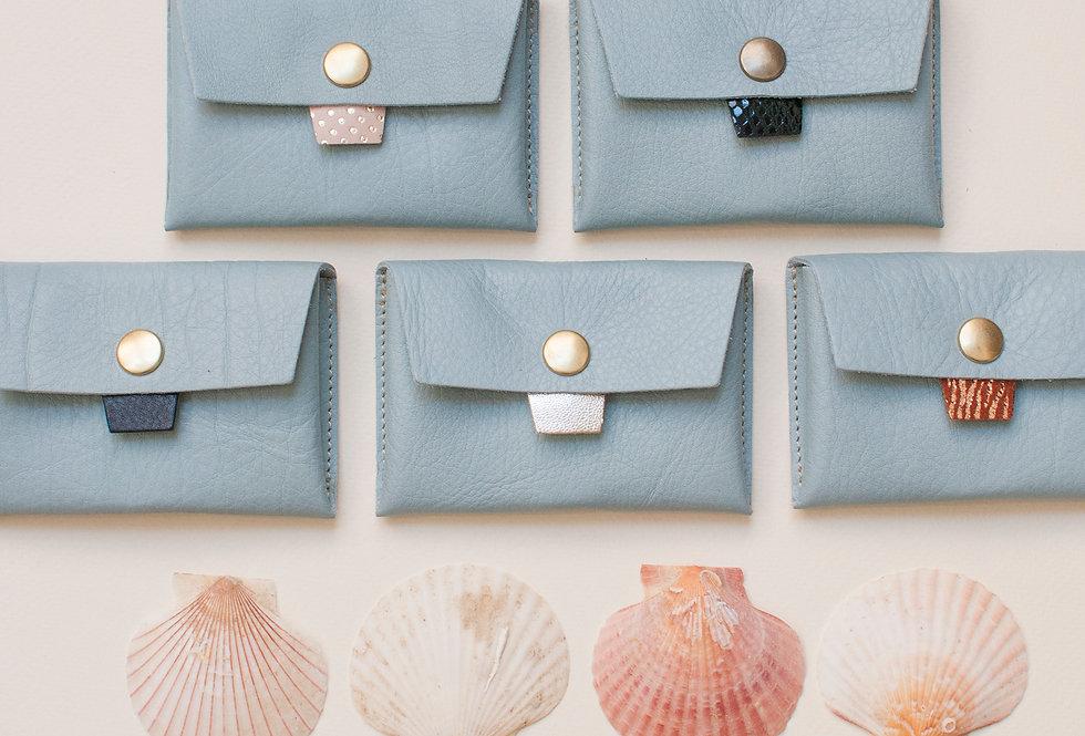 Porte-monnaie Cabourg - bleu ciel