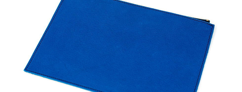 Pochette Cancale - doré & bleu roi