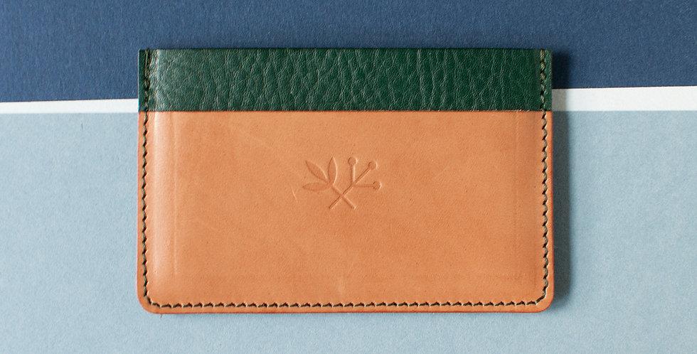 Porte-cartes Roscoff - vert & naturel