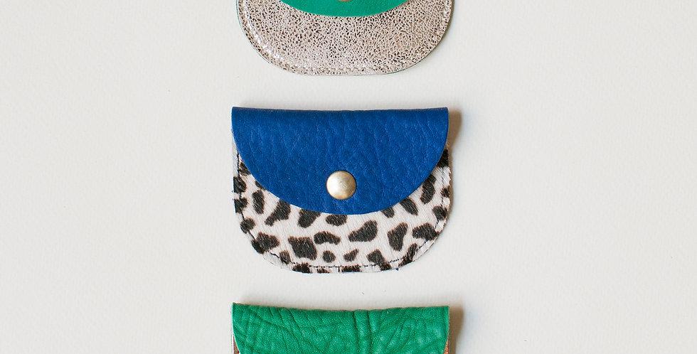 Mini pochette - bleu et vert