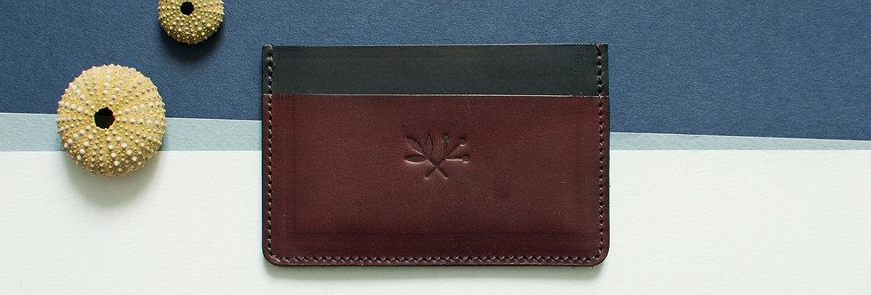 Porte-cartes Roscoff - noir & grenat