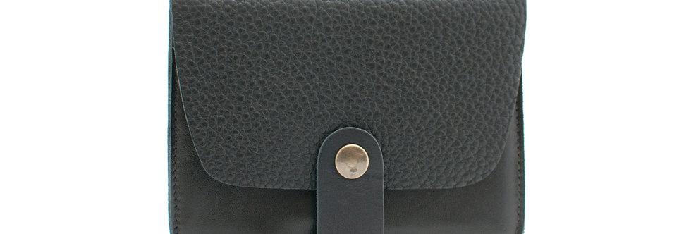 Porte-cartes Tregana - noir grainé et noir