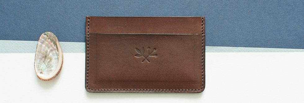 Porte-cartes Roscoff - marron