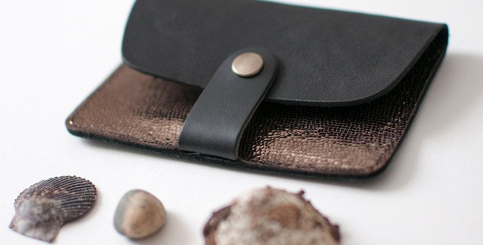 Porte-cartes Tregana - noir & bronze