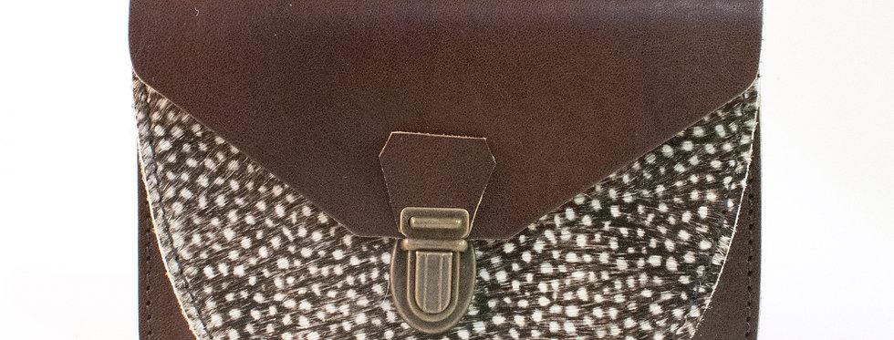Portefeuille Paimpol - marron & poils tachetés