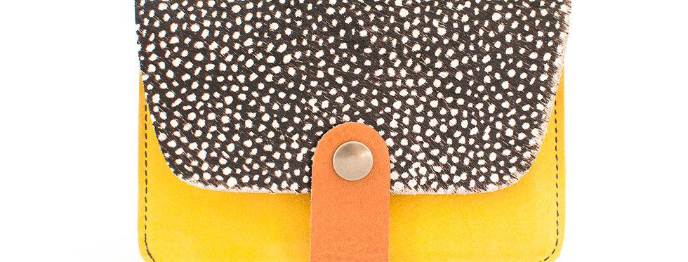 Porte-cartes Tregana - poils tachetés & jaune soleil