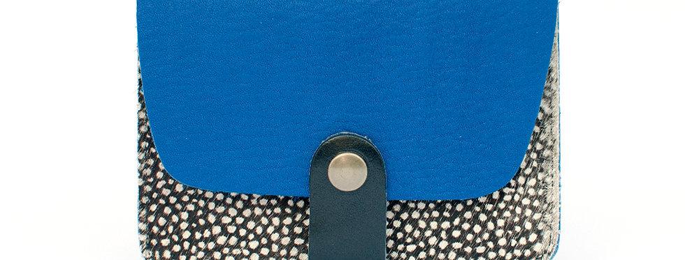 Porte-cartes Tregana - bleu roi et pintade