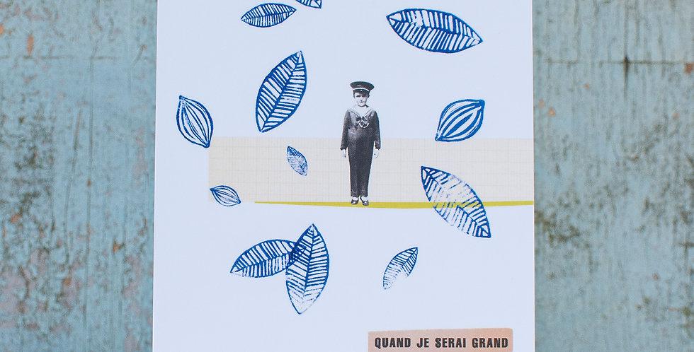 """carte postale """"Quand je serai grand"""""""