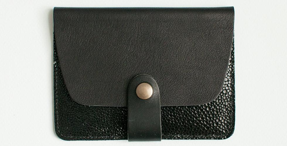 Porte-cartes Tregana - noir & noir bubble