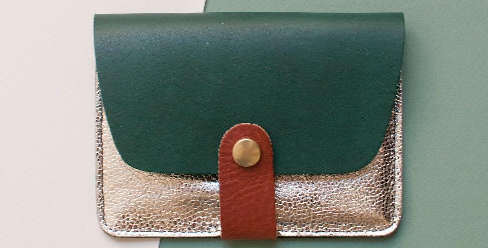 Porte-cartes Tregana - vert & doré