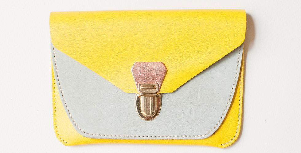 Portefeuille Paimpol -  jaune & amande
