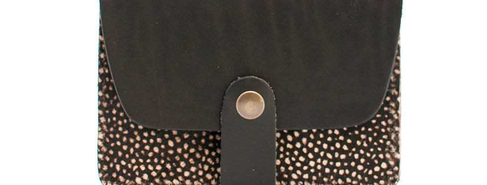 Porte-cartes Tregana - noir et poils tachetés