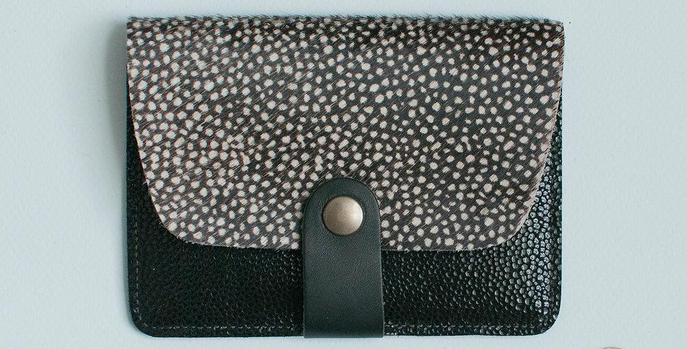 Porte-cartes Tregana - poils tachetés & noir bubble