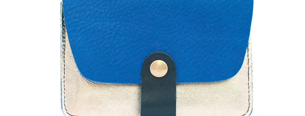 Porte-cartes Tregana - bleu roi et doré