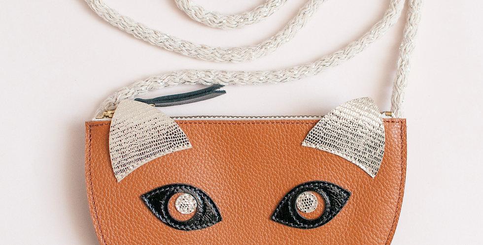 mini sac / pochette Cat ! miel
