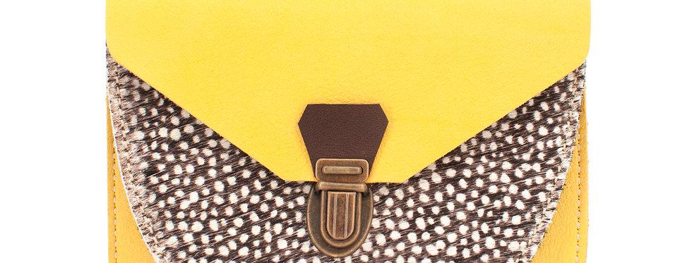 Portefeuille Paimpol - jaune soleil & poils tachetés