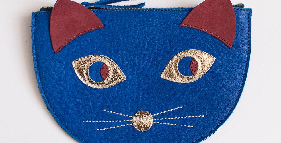 mini sac / pochette Cat ! bleu roi