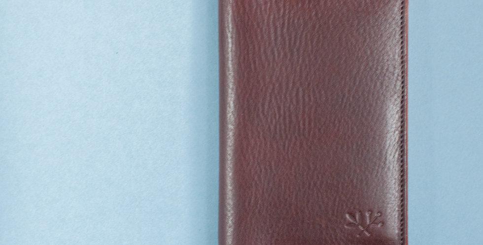 Porte-passeport Plymouth - marron et acajou