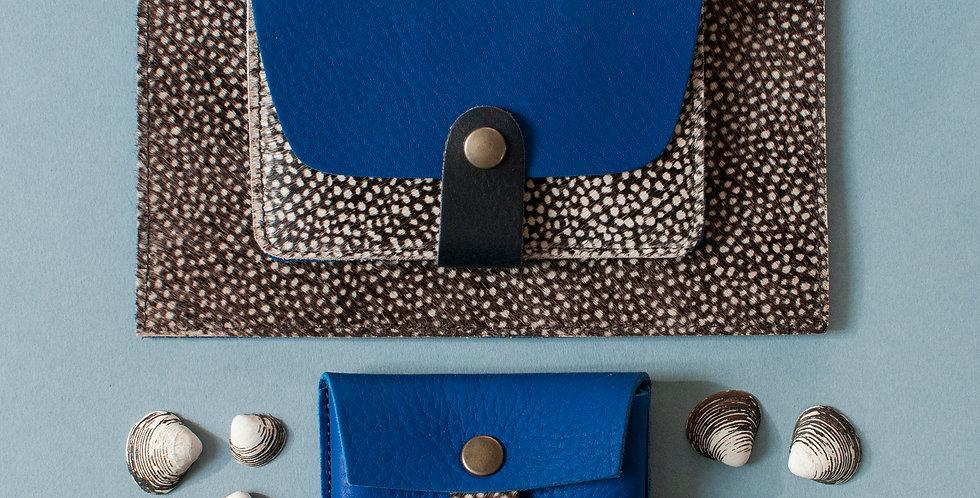 Cancale + Tregana + Cabourg / bleu roi & poils tachetés