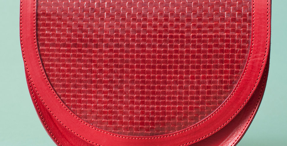 Sac Térénez - rouge & tresse rouge