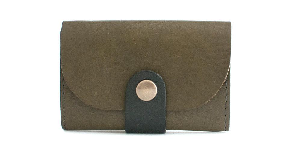 Porte-monnaie Ouessant - olive et noir